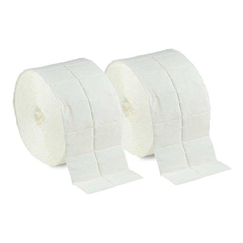 N&BF 1000 Zelletten Tupfer (2 Rollen à 500 Stück) - Zellstofftupfer - fusselfreie Cellulose...