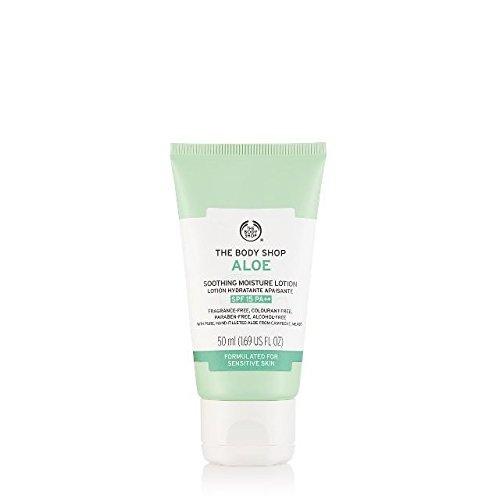 Aloe beruhigende Feuchtigkeitscreme SPF 15 für empfindliche Haut
