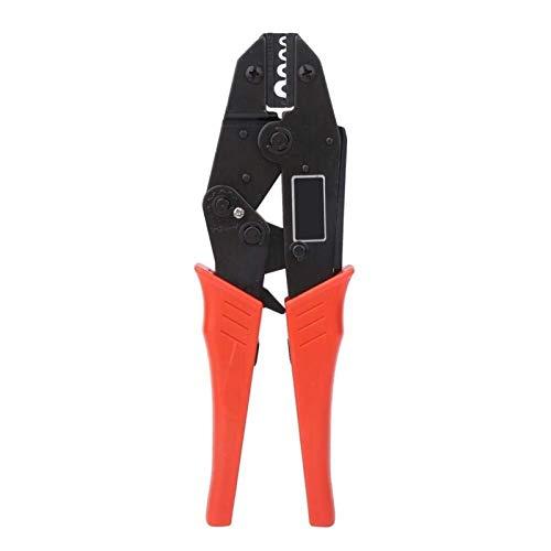 LHQ-HQ - Crimpadora de trinquete de 0,5 a 10 mm, 20-7 AWG HS-10A, herramienta de reparación de terminales eléctricos con freno de trinquete para terminal tubular desnudo y terminal preaislado