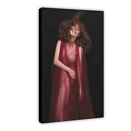 American Film And Television Attrice Julianne Moore 11 Poster di tela per camera da letto Decor Sport Paesaggio Ufficio Camera Decor Regalo 60 × 90 cm Frame-style1