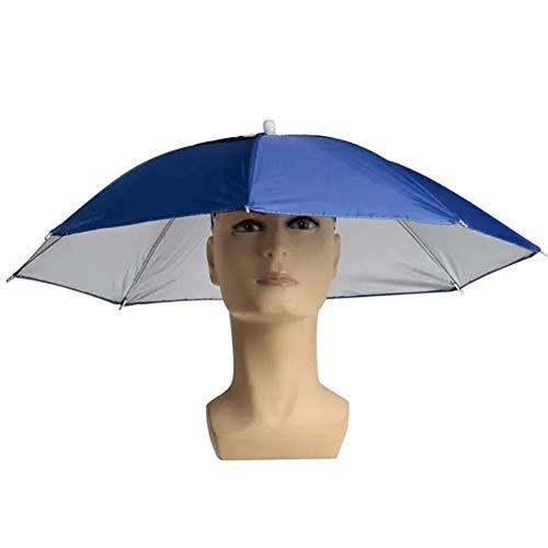 Ofgcfbvxd Uv Schutz Hut Faltbare Sonnenschirm Angeln Wandern Golf Camping Kopfbedeckung Cap Kopf Hüte Außen (Farbe : Random, Größe : Einheitsgröße)