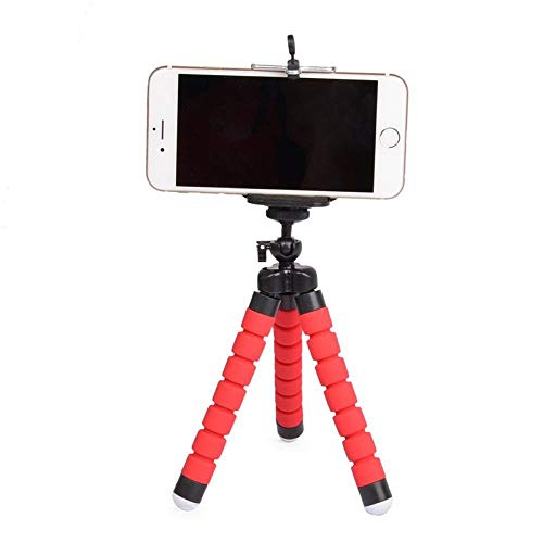 Tripé Para Celular Flexivel E Camera Vermelho CBRN08759