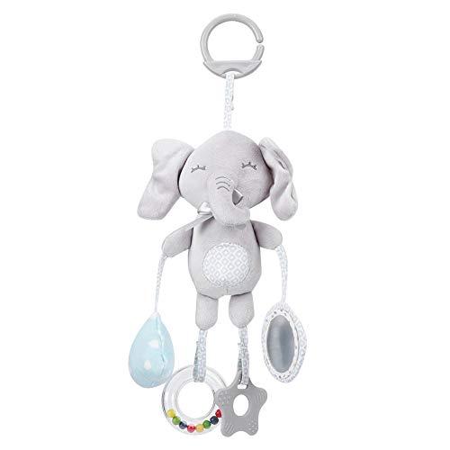 Juguete de campana colgante, no tóxico, cómodo, mordedor, cochecito, muñeca infantil, juguete, para niños, bebés(Elephant)