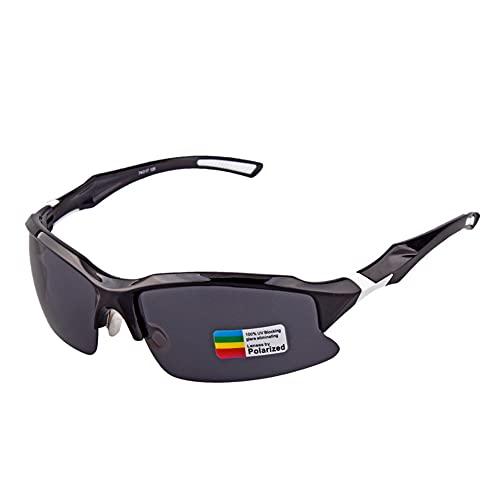 YYLI Gafas Sol Polarizadas Ciclismo, Gafas De Hombre Mujer con Lentes UV400 Y Montura De TR-90, Gafas De Sol para Ciclismo, Carrera Triatlón Deporte MTB Golf Bicicleta,A