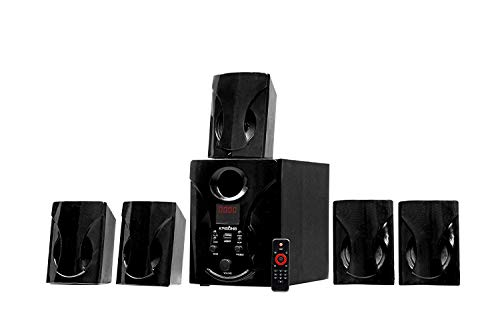 Krisons 5.1 Bluetooth Multimedia Speaker Compatible with TV/Laptop/Smartphones/Multimedia Devices-Black