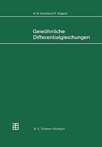 Gewöhnliche Differentialgleichungen (Mathematische Leitfäden)