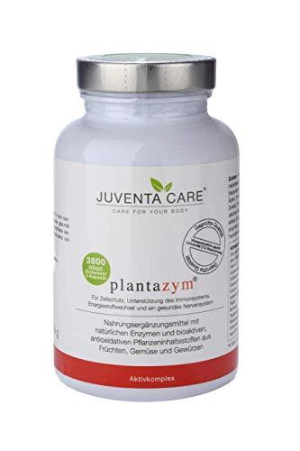 Juventa Care plantazym - Nahrungergänzungsmittel - mit natürlichen Enzymen und bioaktiven, antioxidativen Pflanzeninhaltsstoffen aus Früchten, Gemüse und Gewürzen, 120 Kapseln