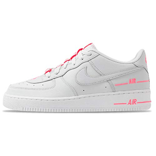 Nike AIR Force 1 LV8 3 (GS) Basketball Shoe, Photon DUST/Photon DUST-DIGITAL PINK, 36 EU