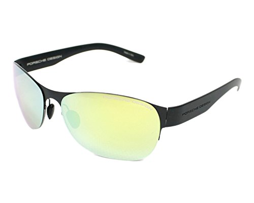 Porsche Design Sonnenbrille P8581-A-61 Oval Sonnenbrille 61, Schwarz