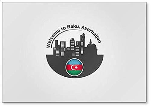 Kühlschrankmagnet, Motiv: Welcome To Baku, Aserbaidschan