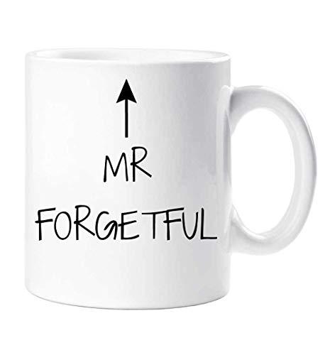 N\A Mr Forgetful Mug Día del Padre Papá Tío Grandad Grandpa Cup Cumpleaños Navidad