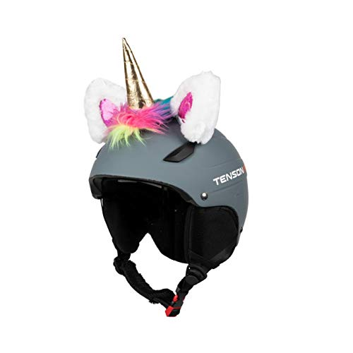 Kadosa Orecchie Unicorno da Applicare al Casco con Velcro - Sci Moto Adulto Bambino Junior MTB Unisex T.U.