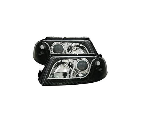 V-MAXZONE VP181 Jeu de phares en verre transparent Noir Droit