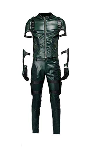 Yewei TV Serie Arro Archer Season 4 Kostüm Herren Green Halloween Kostüm (Grün, M)
