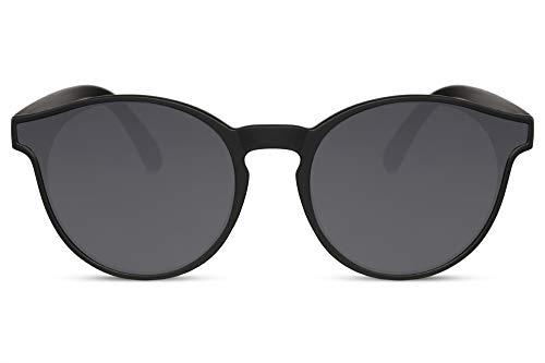 Cheapass Gafas de Sol Negras Estilo Redondo con Especiales Lentes con Forma Protección UV400 100% Mujeres Hombres