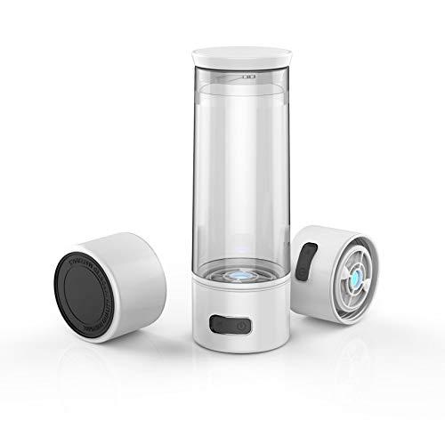 AlkaDrops Portable 4-mins Hydrogen Water Bottle, Rechargable Ionized Water Generator Maker, Alkaline Energy Cup Hydrogenated Water Bottle,300ML