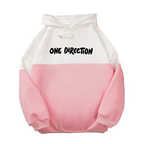 Vhpperfg One Direction Pullover Impresión de la Camiseta de Moda Outwear Bastante básico Deporte Pullover luz Suave Cuello Redondo Capas de la Vendimia Sudaderas con Capucha de Invierno Unisex
