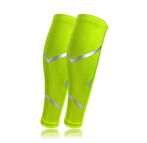 ZXYSR Fasce Compressione - Nuove coperture per Compressione per Stecche, Fibbie e Gambe - Corsa, Jogging, Ciclismo, Fitness ed Esercizio (1 Paio),Verde,XL