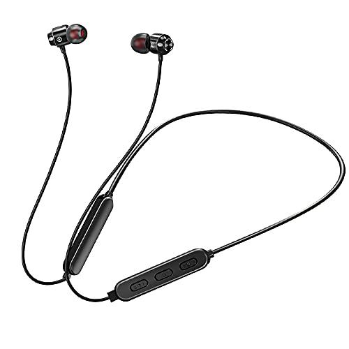 【最新進化版Bluetooth 5.0ワイヤレスイヤホン】 Bluetooth イヤホン イヤホン スポーツ仕様 18時間連続再生 Hi-Fi 高音質 重低音 マグネット搭載 自動ペアリング ブルートゥース イヤホン IPX5防水 CVC8.0 ノイズキャ