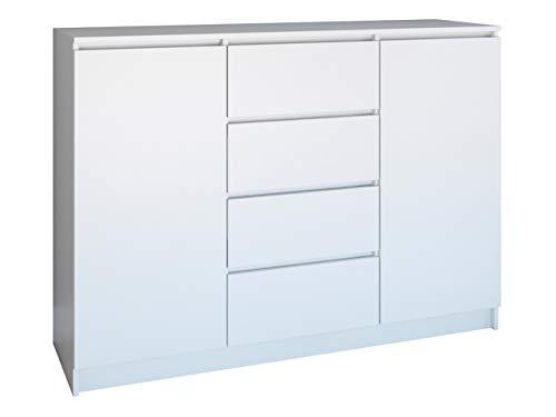 Mirjan24 Kommode Orson 2d4s, Highboard, Anrichte, Sideboard, Mehrzweckschrank, Schlafzimmer, Wohnzimmerschrank, Gästezimmer, Schrank (Weiß)