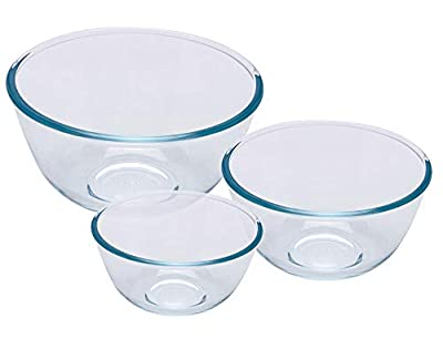 Pyrex Bowl Set of 3 Pieces, 0.5, 1 and 2 Litres) from