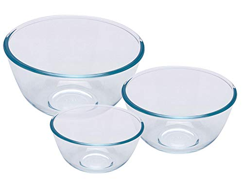 Pyrex Bowl Set, 0.5L/1.0L /2.0L, 3 Piece