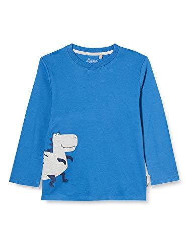 Sigikid Jungen Mini Langarmshirt aus Bio-Baumwolle, Größe 098-128 Pullover, Blau/Dino, 122