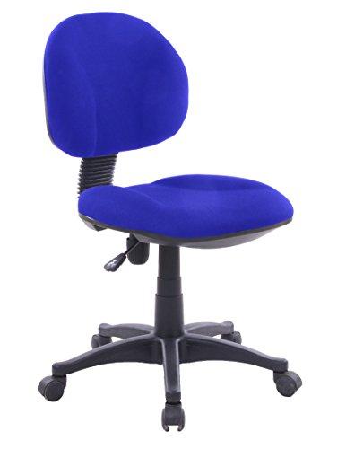 Lisa Azul Silla giratoria tapizada para estudio despacho o escritorio juvenil con ruedas, ideal para teletrabajo.Silla de oficina giratoria con gas y asiento tapizado