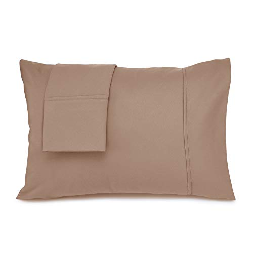 Nestl Bedding Pillowcases for Kids - Taupe Double Brushed Microfiber Toddler Pillow Cover - Machine Washable - Toddler Pillowcase 14 x 19 - 1800 Series Premium Pillow Case Set of 2