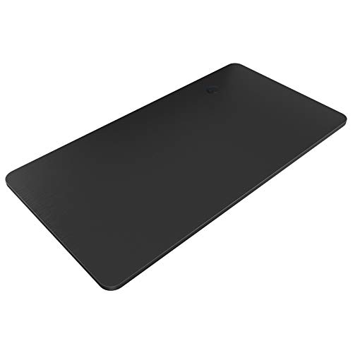 MAIDeSITe Escritorio de pie eléctrico ajustable de altura rectangular solo 140 x 70 x 2,5 cm (negro)