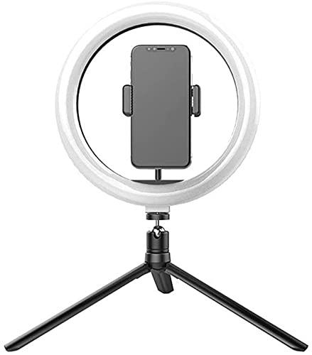 YQLWX Muqingyun Light Light Light LED Light Light with Treppied Stand Dimmable Modes Selfie Ring Light per la Fotografia Vlog per Il Trucco dal Vivo Trucco (Colore : Nero, Taglia : One Size)