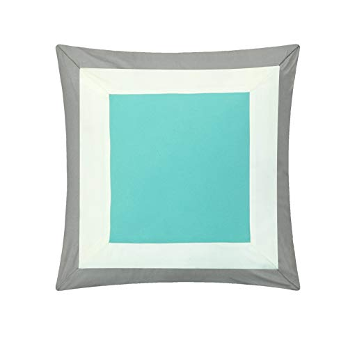 Chic Home Duke 10 Piece Complete Color Block Bed, Queen, Turquoise