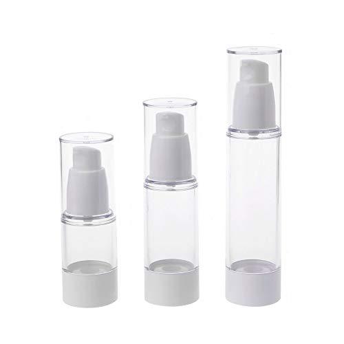 Bingpong 10pcs 15ml/30ml/50ml conteneur de bouteilles de lotion airless vide vide transparent pour le paquet d'articles de toilette de voyage (30ml, bec bouche)