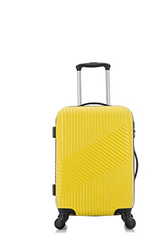 Flymax Cabin Luggage 4 Wheel Suitcase Lightweight Carry on 55x35x20 Approved for Flybe Ryanair...
