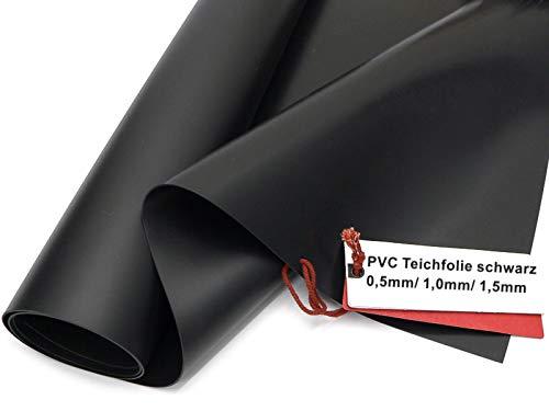 Sika Premium PVC Teichfolie schwarz, Stärken: 0,5 mm / 1,0 mm / 1,5 mm (Made in Germany, 15 Jahre Garantie) (PVC Stärke0,5 mm, 6 m x 8 m)