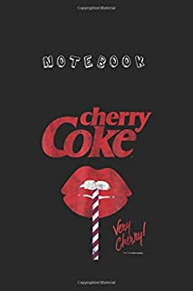 Notebook: Cocacola Vintage Very Cherry Coke Lips Graphic Notebook 6'' x 9'' x 112 Pages White Paper Blank Journal with Black Cover Cute Gift for Baby - Family - Friends - and Loved Ones