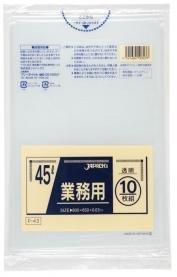 業務用ポリ袋 45L 10枚×60冊 P-43 [透明]