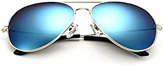 VEITHDIA Sunglasses Polarized Light Blue Reflective Lens with Gold Frame