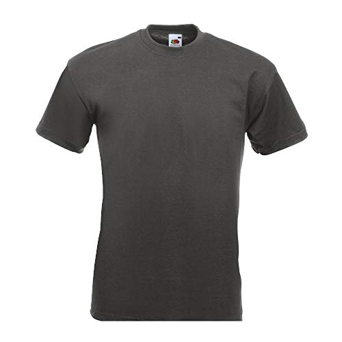 Fruit of the LoomHerren T-Shirt Grau Light Graphite