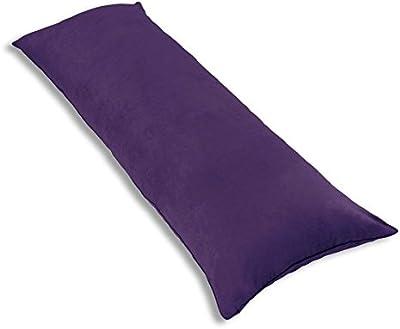 """(20"""" x 54"""" (50cm x 137cm), Purple) - 100% Egyptian Cotton 600 Thread Count solid Body Pillow size 20"""" x 54"""" Inch (50cm x 137cm) Purple Colour"""