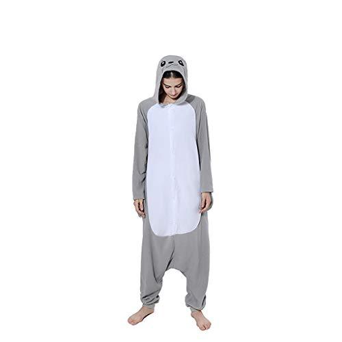 WANGLXPA Suave Kigurumi Pijamas, Unisexo Adulto Cosplay Traje Disfraz Adulto Animal Pyjamas Ropa de Dormir Halloween y Navidad cómodo, S