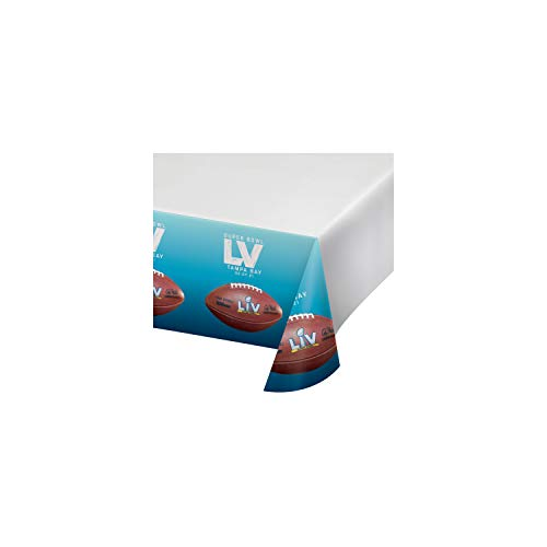 Super Bowl LV Plastic Tablecloths, 3 ct