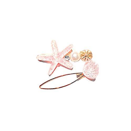 OWX 2pcs Starfish Hair Clip handmade for Women Girls, Sea Star, Random, Size No Size, Ladies and Girls Headwear Styling Tools Hair Accessories,Hair Barrette