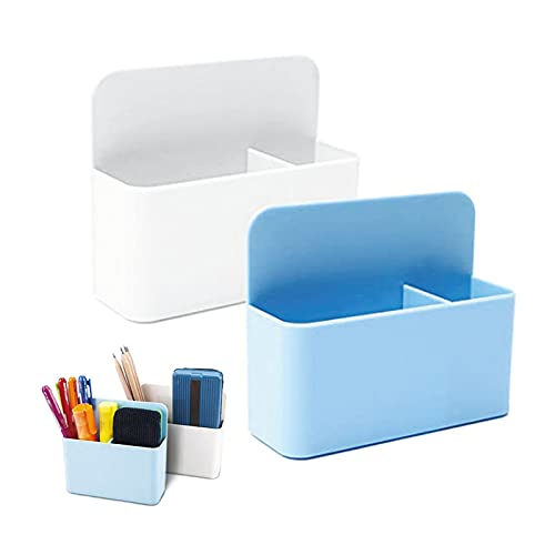 2pcs Magnetisch Marker Halter, Magnetstifthalter, Pen Container, Magnetisch Markerhalterung, Stiftehalter Aufbewahrung Organizer für Kühlschrank, Whiteboard, Schließfach