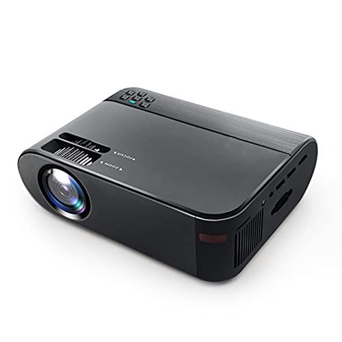 WJMM Proyector, 1080p HD 2300 Lumens Micro LED Home Office System Android System Proyector de Pantalla Grande, Compatible con DVD, teléfono Inteligente, computadora y más