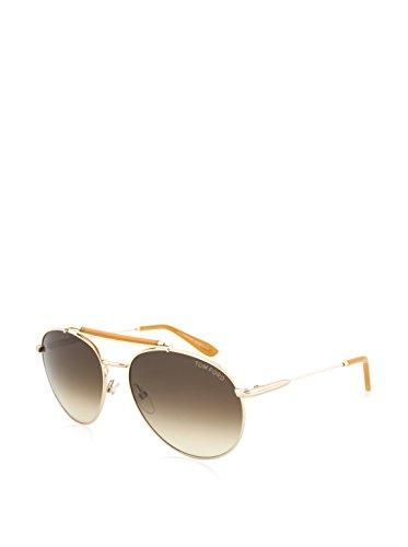 Tom Ford Für Mann 0338 Shiny Rose Gold / Gradient Brown Metallgestell Sonnenbrillen, 58mm