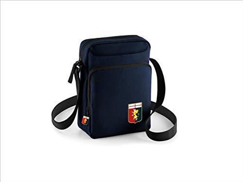 official product Genoa - Bolso bandolera azul con bolsillo frontal con logotipo grifone rojo y azul