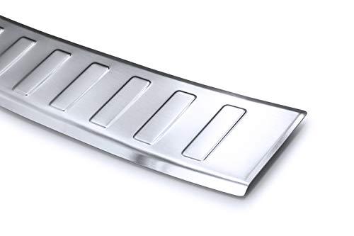 tuning-art BL946 Kombi Ladekantenschutz mit Abkantung Modellspezifisch, Farbe:Silber