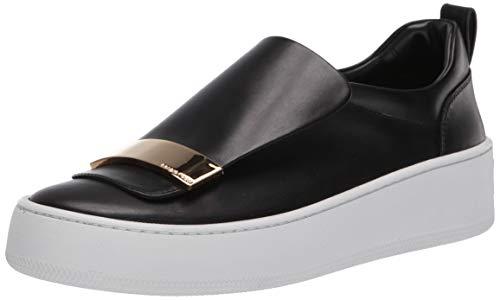 Sergio Rossi Women's SR1 Addict Sneaker, Black, 41 Medium EU (11 US)