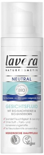 Lavera Neutral gezichtsvloeistof ∙ droge tot allergieën neigende huid ∙ veganistisch biologische werkzame stoffen natuurlijke cosmetica Natural & innovatieve Gezichtsverzorging, 1 x 30 ml
